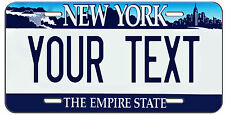 PERSONALIZED CUSTOM NEW YORK VANITY LICENSE PLATE AUTO TAG