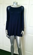 100% AUTHENTIC NWT BEBE HIGH LOW CHIFFON BACK TUNIC SIZE SMALL