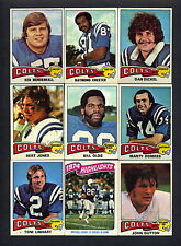 1975 Topps Football Baltimore Colts TEAM SET - (18) Bert Jones