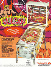 VULCAN By GOTTLIEB 1977 ORIGINAL FLIPPER PINBALL MACHINE PROMO SALES FLYER
