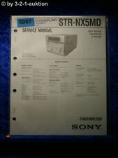 Sony Service Manual STR NX5MD Tuner Amplifier (#5967)