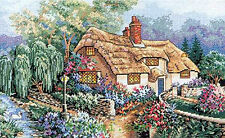 14ct Counted Cross Stitch Kit Cottage,Duck,Garden 52x36cm Christmas Gift New