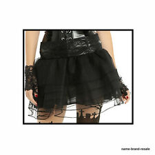 HOT TOPIC NEW Tutu Mini SKIRT Juniors L XL Sexy BLACK Shiny GOTH LOLITA GOTHIC