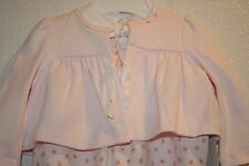 Ralph Lauren Baby Girls Coverall, Bodysuit, Sleeves Top 3 PC Set Pink/W 6m New