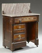 American Eastlake Carved Walnut Marble Top Washstand, late 19th c., ... Lot 2137
