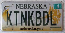 Nebraska 2012 SUPERB QUALITY VANITY License Plate KIT AND KABOODLE