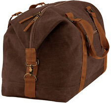 BagBase Vintage Canvas Weekender Travel Flight Holdall Shoulder Luggage Bag OS