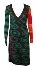 DESIGUAL Belle robe en taille xs = de 34 en vert-Coloré