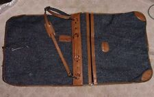 Vintage Pierre Cardin Brown Grey Tweed Luggage Garment Bag Travel Carrier NICE