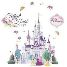 Disney Princess CASTLE wall stickers MURAL glitter 23 decals 36x34 inches