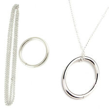 Magic Ring and Chain Cool Magic Trick Props Metal Knot Ring On Chain HOT