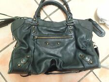 Balenciaga Classic City 115748 black leather hobo shoulder bag purse Chevre Cute