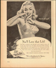 1949-Life Bra-by Formfit`Art, Lingerie-Sexy Model-Vintage Ad