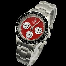 + WANCHER JAPAN Daytona Mechanik Schaltrad-Chronograph Seagull ST19- fabrikneu +