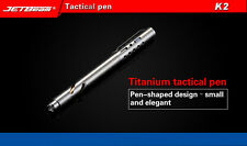 JETbeam NITEYE K2 Titanium Tactical MINI Pen Fisher Space Pen Self-defence Tool