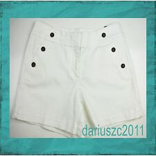 "white house black market women's 5"" size 10 side batons white shorts"
