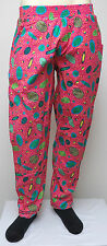vtg HOT PINK NEON PLANETS YELLOW DOTS MC Hammer Pants S/M 80s/90s lined crazy