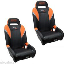 PRP GT S.E. UTV Front Seats (2) Orange Black Polaris RZR XP1000 XP 1000