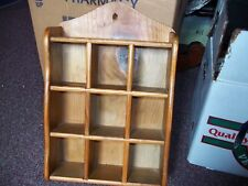 vintage wooden nick nac shelf nice the vertical slots slide out 14 x 9 1/4