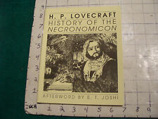 UNREAD: H P Lovecraft History of NECRONOMICON-- NECRONOMICON PRESS 1992