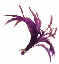 20 Purple Loose Goose Biot Feathers length 13cm-15cm - crafts, millinery, fly