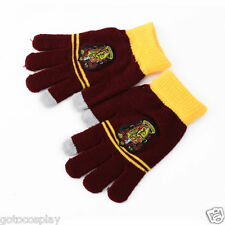 Harry Potter Gryffindor Gloves With Logo Warm Costume Touch Glove Xmas Gift