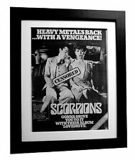 SCORPIONS+Love Drive+Piece Meat+POSTER+AD+ORIGINAL+1979+FRAMED+FAST GLOBAL SHIP