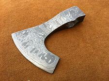 KNIVES EXPORTER Forest Hunter Bearded Damascus Steel Blank Axe Head (09)