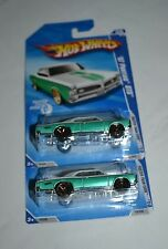 2010 HOT WHEELS FASTER THAN EVER '67 PONTIAC GTO R7559 134/240 SET OF TWO !!