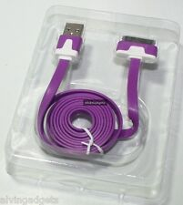 Flat USB Data Charge Sync For Apple iPhone 3G/S 4/4S iPad iPod Touch Nano