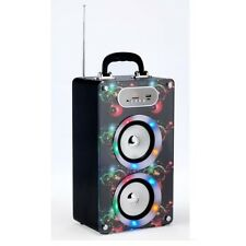 Steepletone BOLLE SoundBox BLUETOOTH USB Altoparlante Portatile Festa Discoteca