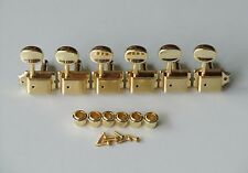 Gold Split Shaft Vintage Guitar Tuning Keys Tuners Machine Heads for Strat Tele
