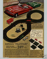 1963 PAPER AD 2 PG Eaton Toy Play Race Slot Car Track Sets Thunderjet 500 Model
