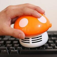 Portable Cute Mushroom Desktop Vacuum Desk Dust Table Cleaner New Orange