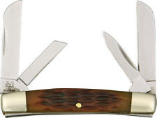 Rough Rider RR930 Knives Folder Knife Miniature Congress Amber Jigged Bone Hand