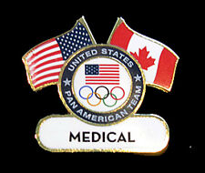 TORONTO 2015 Pan Am Olympic Games Lmtd USA MEDICAL delegation team staff  pin
