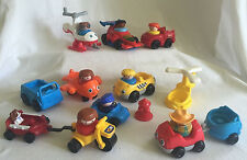 Vintage Fisher-Price Little People 21pc Lot Figures Lights Sounds Race Car Wagon