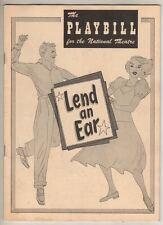 """Carol Channing  """"Lend An Ear""""   Playbill  1949   Broadway"""