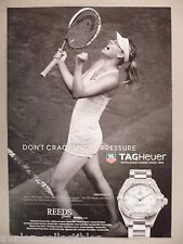 Maria Sharapova for Tagheuer Watch PRINT AD - 2014 ~ wristwatch