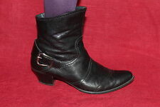 PAUL GREEN Leder Damen STIEFELETTEN 41 schwarz Leather ANKLE BOOTS Schuhe UK7.5