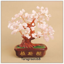 Feng Shui  BIG ROSE ROCK CRYSTALS Lucky Money Tree