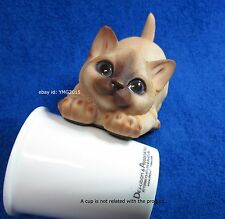 "Premium Grade ""Leaped Siamese Cat"" Resin Statue for Home Decor&Collectible #03"