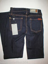 New 7 FAM For All Mankind Jeans 23 24 X 29 Skinny Cigarette Dark USA Designer