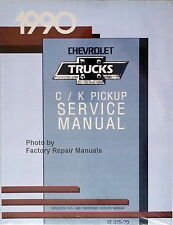 1990 Chevy Pickup Truck C K 1500 2500 3500 Factory Shop Service Manual Reprint