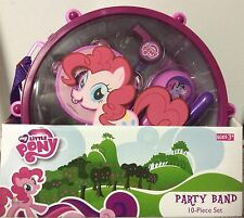 10pc Kids MY LITTLE PONY Music Party BAND SET Drum Carry Case Preschool Pink Lot