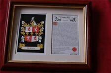 MURPHY Heraldic FRAMED Coat of Arms / Crest and Family History