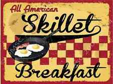 All American Skillet Breakfast Metal Sign, Retro Cafe, Restaurant, Kitchen Decor
