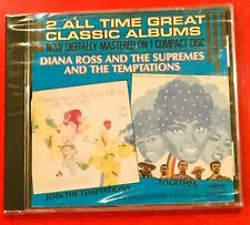 NEW SEALED ORG THE SUPREMES JOIN THE TEMPTATIONS + TOGETHER 2ALBUMS ON 1 CD 1986