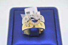 LGBT Gay Lesbian Pride 0.50 C.T.W Diamond Rings 14k Two Tone Gold Size 7.75