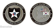 """ARMY SOUTH KOREA 2ND INFANTRY DIVISION SECOND TO NONE 1.75"""" CHALLENGE COIN"""